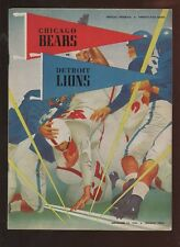 November 22 1953 NFL Program Detroit Lions at Chicago Bears EX+