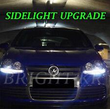 VW GOLF MK4 MK5 SIDELIGHT XENON 6000K WHITE LED LIGHT BULBS -ERROR FREE