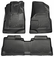 Husky Liners WeatherBeater Floor Mats - 3pc - 98141 - Cadillac SRX 10-16 - Black