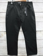 Sacred Crown Jeans Mens Size 32X34 Black Shiny Very Thin Slim Straight Fit New