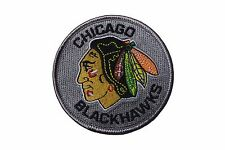 "CHICAGO BLACKHAWKS  NHL LOGO IRON-ON PATCH CREST BADGE 3"" INCHES IN DIAMETER"
