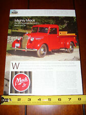 1937 MACK PICK UP TRUCK - ORIGINAL 2014 ARTICLE