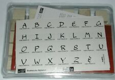 New unmounted Stampin Up Brushstroke Alphabet Wood Rubber Stamp Set Upper Lower