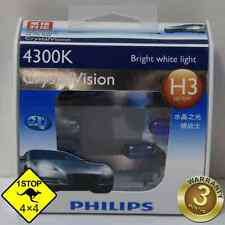 A Pair of Genuine Philips H3 12V 55W 4300K Crystal Vision Bulbs