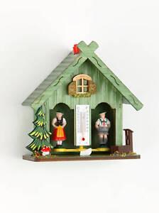 Schwarzwälder Wetterhaus grün aus Holz gefertigt