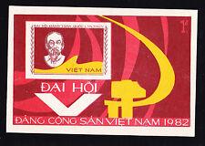 VIETNAM 1982 SC # 1171 THE 5TH VIETNAMESE COMMUNIST PARTY CONGRESS  S/S MNH.,