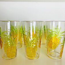 Tropical Pineapple Drinkware Embossed Acrylic 23oz Drinking Tumbler Cup Set of 6