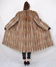 US369 Softy Muskrat Musquash Fur Coat Jacket no Mink Bisam Pelzmantel  L 14-16
