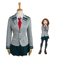 My Boku no Hero Academia School Uniform Tsuyu Ochako Cosplay Costume Halloween