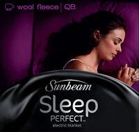 Sunbeam BL5651 Sleep Perfect™ Wool Fleece Heated Blanket - Queen Bed - RRP $399
