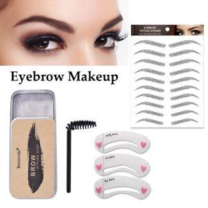 Eyebrow Shaping Makeup Soap Gel Styling Tattoo Stickers Long lasting Waterproof