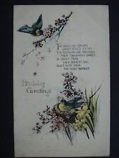 Tuck & Sons Used Colour Birthday Greetings Post Card