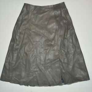 NWT ALL SAINTS Olvera Long Lamb Leather Skirt Sz US 0 UK 4