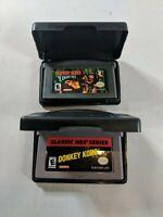 GBA Donkey Kong Country And Donkey Kong 2 Game Lot Nintendo Gameboy Advance