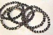 """7.5-8mm Genuine Chlorite Phantom Garden Quartz Beads 7.5"""" Beaded Bracelet"""