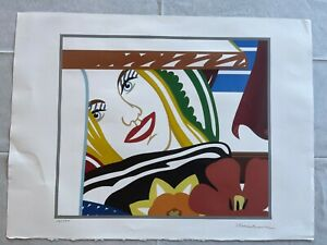 TOM WESSELMANN - lithograph signed on original BFK RIVES paper of 80's-