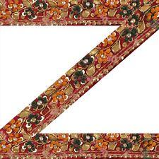 Vintage Sari Border Antique Hand Beaded Bandhani 1 YD Indian Trim Ribbon Lace