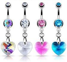 Piercings cristal de acero quirúrgico