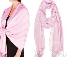 Women Soft PASHMINA SILK Shawl  Scarf ,Beach WRAP-Color:Light Pink