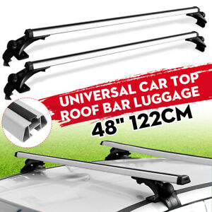 48'' Universal Car Top Roof Rack Cross Tube Bars Cargo Luggage Carrier Aluminum