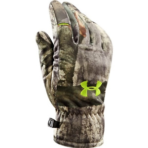 NWT Under Armour Mens UA Scent Control Dead Calm Gloves 1247299 946 XL $50