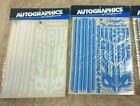 Autographics color stripe kit sheets for 1/10 or 1/12 scale vintage RC parts