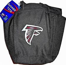 ATLANTA FALCONS LINED SHOWER TOTE TRAVEL BAG WITH HANDLES AND TEAM LOGO ON FRONT