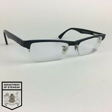 RAY-BAN eyeglasses BLACK HALF RIMLESS glasses frame MOD: RB7012 2000