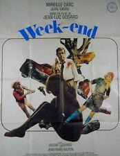 WEEK END 1967 Jean-Luc Godard Mireille Darc, Jean Yanne FRENCH POSTER