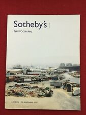 Sotheby's London Photographs 12 November 2007 auction catalog