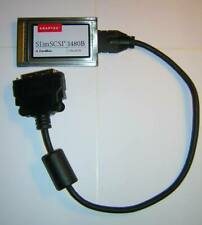 Adaptec SlimScsi 1480B CardBus Ultra Scsi-2 Adapter Pc Card + Hd50 Cable