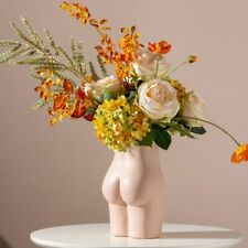 Human Body Vase Women Butt Shape Ceramic Nude Art Flower Home Room Desktop Decor