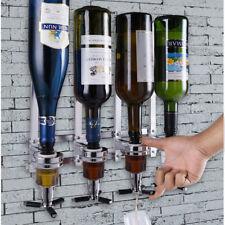 Spillatore bevande parete supporto 4 bottiglie dispenser dosatore liquori bibite