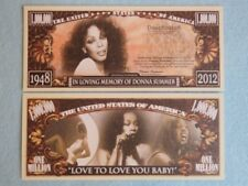 DONNA SUMMER: Disco Music Singer and Songwriter ~ $1,000,000 One Million Dollars