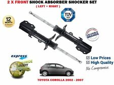 FOR TOYOTA COROLLA 1.4 1.6 1.8 2.0 2002-2007 FRONT LEFT + RIGHT SHOCK ABSORBER