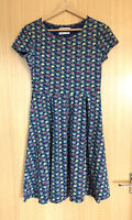 Seasalt Ladies Dress 8 Riviera Casual Smart Summer Jersey Floral Organic Cotton