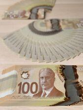 🎄🎁🎄🎁 Canada 🇨🇦 $100 GEM UNC Polymer Banknote Bill, Consecutive SN, 2011