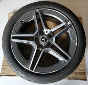 """MERCEDES C CLASS W205 ALLOY WHEEL & TYRE 18"""" FRONT AMG FACELIFT (WH422)"""