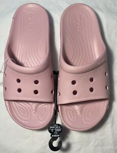 New Women's CROCS Pink Slides Shoes Clogs Size 7 FREE SHIPPING