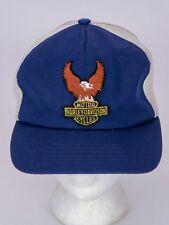 VTG 1970s Swingster HARLEY DAVIDSON Hat Cap Eagle Patch Meshback MADE IN USA