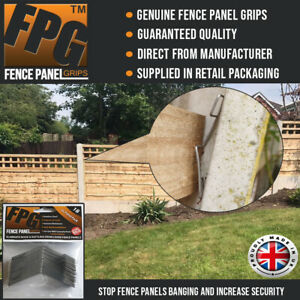 Fence Panel Grips Clips Stop Fence Panels Rattling Anti Rattle 18 Pk, (3 Panels)