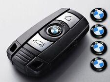 4x BMW clé logo 11 mm Lettrage Emblème 1 3 4 5 6 7 M X Key Autocollant Fob 9