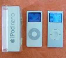 Two 2 Apple iPod 2GB Nano 1st Generation A1137 & A1199 2nd Generation. -Classic-