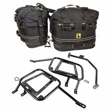 FITS: KTM 950 990 Adventure S Baja R Tusk Pannier Racks w/ Wolfman RM Saddle Bag