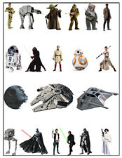 20 x Star Wars Stand Up Edible Cupcake Toppers (uncut) quality wafer card