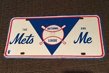 VINTAGE NEW YORK METS LICENSE PLATE 1960s Time Period
