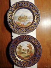 2 x19th Century Handpainted Cabinet  Plates. Scottish Scenes ?
