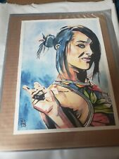 WWE NXT Dakota Kai Painting by Rob Schamberger