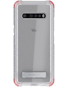 Clear LG V60, Velvet 5G Case with Kickstand & Anti-Slip Grip Ghostek Covert 4