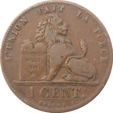 Belgium 1 Centime 1901 KM#33.1 Léopold II french text (B-15)